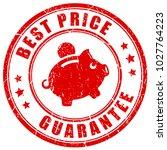 best price 100 guarantee vector ... | Shutterstock .eps vector #1027764223