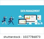 data management  data center ... | Shutterstock .eps vector #1027786873