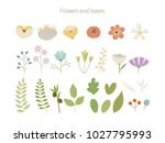 flowers and leaf sauces. hand... | Shutterstock .eps vector #1027795993