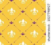 mardi gras seamless pattern... | Shutterstock .eps vector #1027798927