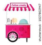 carts retail  kiosk on wheels ... | Shutterstock .eps vector #1027802947