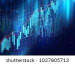financial stock market graph on ... | Shutterstock . vector #1027805713