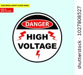 danger high voltage  electric... | Shutterstock .eps vector #1027808527