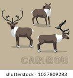 deer caribou cartoon vector... | Shutterstock .eps vector #1027809283
