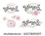 happy women's day hand drawn... | Shutterstock .eps vector #1027809307