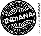 indiana typographic stamp.... | Shutterstock .eps vector #1027820047