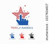 vote for america logo | Shutterstock .eps vector #1027826827