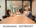western business woman boss... | Shutterstock . vector #1027842457