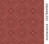 seamless pattern with mandala.... | Shutterstock .eps vector #1027844983