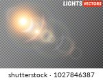 vector transparent sunlight... | Shutterstock .eps vector #1027846387