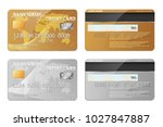 realistic gold and silver bank... | Shutterstock .eps vector #1027847887