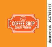 coffee logo vintage vector icon ... | Shutterstock .eps vector #1027859893