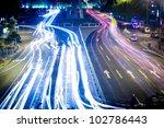 overpass of the light trails ... | Shutterstock . vector #102786443