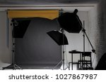 soft boxes and lighting in a... | Shutterstock . vector #1027867987