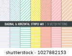pastel rainbow stripes vector... | Shutterstock .eps vector #1027882153