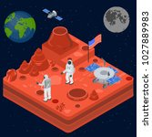 space discovery concept 3d... | Shutterstock .eps vector #1027889983