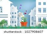 plant and flower illustrations. ... | Shutterstock .eps vector #1027908607