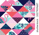 vector seamless pattern with... | Shutterstock .eps vector #1027909687