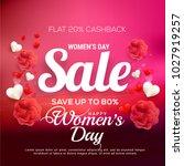 international womens day sale... | Shutterstock .eps vector #1027919257