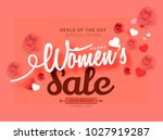 international womens day sale... | Shutterstock .eps vector #1027919287