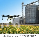 agriculture drone flying on the ... | Shutterstock . vector #1027920847