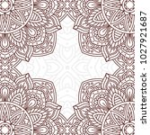 invitation card with mandala.... | Shutterstock .eps vector #1027921687