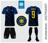 soccer jersey  football kit  t... | Shutterstock .eps vector #1027923457