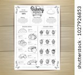 vintage bakery menu design....   Shutterstock .eps vector #1027926853