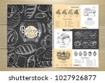 vintage chalk drawing bakery...   Shutterstock .eps vector #1027926877