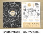 vintage chalk drawing bakery...   Shutterstock .eps vector #1027926883