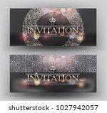 elegant invitation vip card... | Shutterstock .eps vector #1027942057