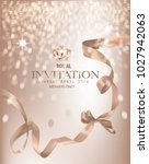 beige invitation banner with... | Shutterstock .eps vector #1027942063