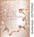 beige invitation banner with... | Shutterstock .eps vector #1027942063
