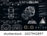 car service in the style of hud ... | Shutterstock .eps vector #1027942897