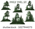 set landscapes  isolated on... | Shutterstock . vector #1027944373
