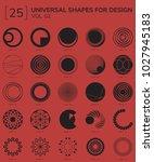 set 25 universal geometric... | Shutterstock .eps vector #1027945183