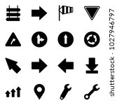 solid vector icon set   sign... | Shutterstock .eps vector #1027946797