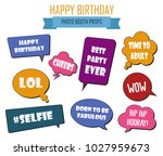 colorful photo booth props set... | Shutterstock .eps vector #1027959673