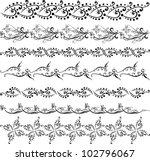 floral ornamental pattern set... | Shutterstock .eps vector #102796067