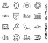 flat vector icon set   car wash ... | Shutterstock .eps vector #1027962823