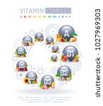 mineral vitamin multi... | Shutterstock .eps vector #1027969303