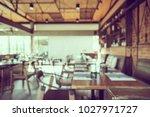 abstract blur restaurant... | Shutterstock . vector #1027971727