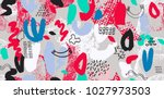 abstract vector colorful...   Shutterstock .eps vector #1027973503
