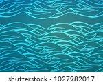 light blue vector doodle... | Shutterstock .eps vector #1027982017