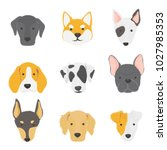 illustration of dogs collection | Shutterstock . vector #1027985353