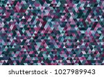 dark blue  red vector polygonal ... | Shutterstock .eps vector #1027989943