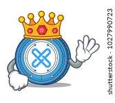king gxshares coin mascot... | Shutterstock .eps vector #1027990723
