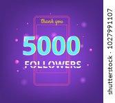 5000 followers thank you phrase ... | Shutterstock .eps vector #1027991107