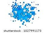light blue vector pattern.... | Shutterstock .eps vector #1027991173
