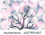 abstract colorful circle tree... | Shutterstock .eps vector #1027991407